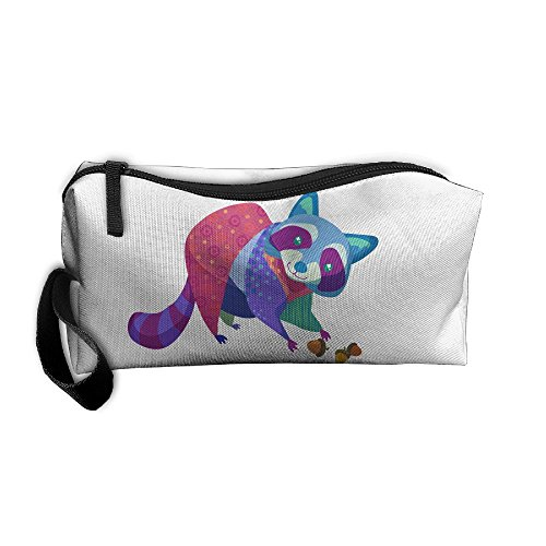 Portable Make-up Receive Bag Raccoon Travel&home Storage Bag Zipper Organization Space Saver Canvas Buggy Pouch -
