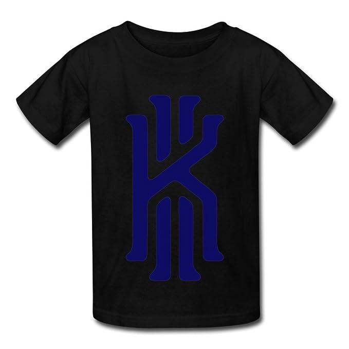 online retailer 975b9 b6563 Kids Boys Girls T Shirt Kyrie Irving 2K Logo Black: Amazon ...