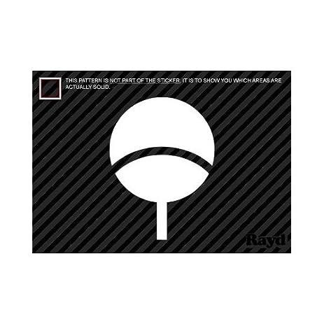 Amazon 2x 9 Sasuke Uchiha Symbol Naruto Logo Sticker Vinyl