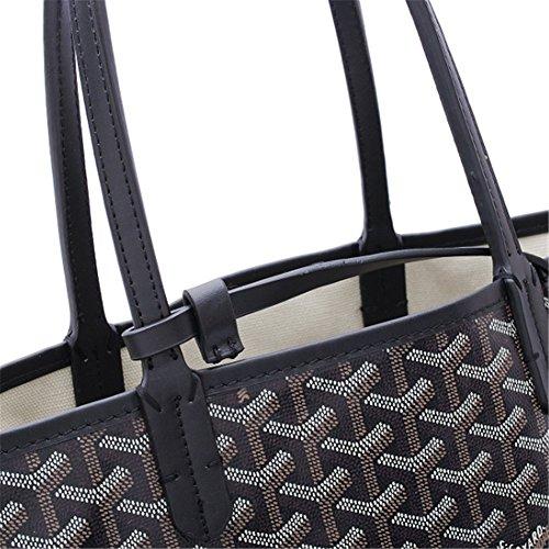 Agote Women Fashion Shipping Shoulder Tote Bag Set (BLACK.) by Agote (Image #2)