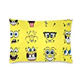 SpongeBob SquarePants Pillowcase Rectangle Zippered Two Sides Design Printed 20x36 Pillow Cover Cushion Case Covers