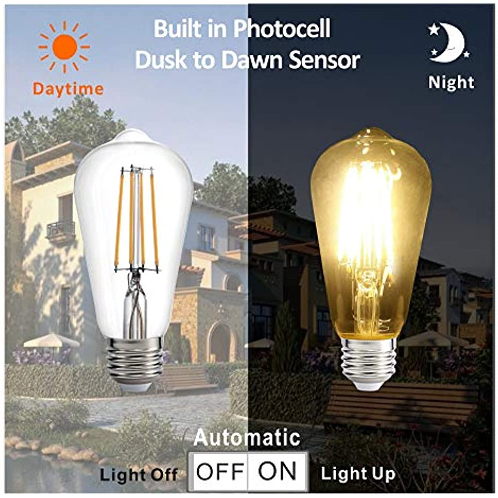Dusk To Dawn Led Lights Bulb  Photocell Sensor Auto Turn