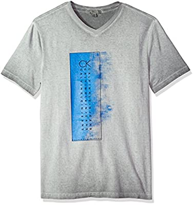 Calvin Klein Men's Short Sleeve T-Shirt Crew Neck Gradient Box Logo Graphic