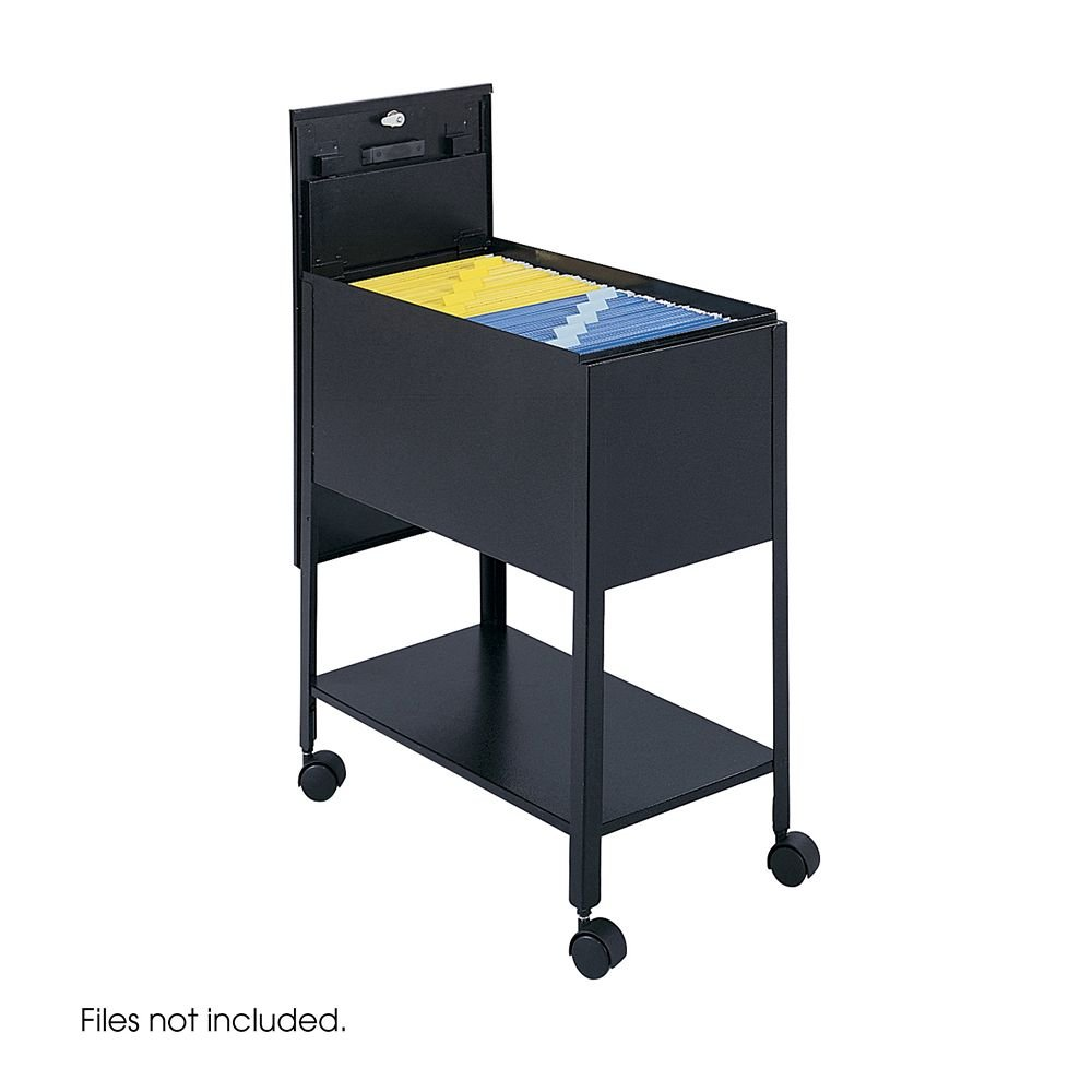 Safco Extra-Deep Locking Mobile Tub File, 13-1/2w X 24-3/4d X 28-1/4h, Black