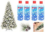 Christmas Fake White Spray Snow - FOUR (4) 13-oz Cans (52-oz Total) - For Indoor or Outdoor - Highlight Tips of Tree Branches, Accent Garland, Wreaths & Centerpieces, Decorate Windows, Mirrors & Vases