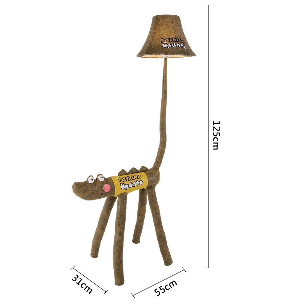 Kids Desk Lamp LED Cute Crocodile LED Floor Lamp Funny Animal children bedroom Table lamp Two Sizes Option (125cm) by Balie Space (Image #5)