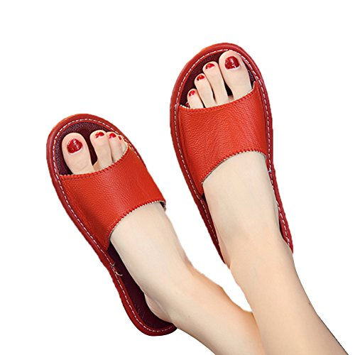 Anti Cowhide Rouge Slippers Floor Men W Leather Autumn Wooden Summer Smelly TELLW for Spring Corium Women wxqIYpn1C