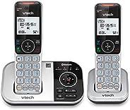 VTech VS112-2 DECT 6.0 - Teléfono inalámbrico Bluetooth 2 para casa con contestador, Bloqueo de Llamadas, iden