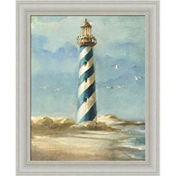 lighthouse i by danhui nai coastal nautical wall art print framed dcor