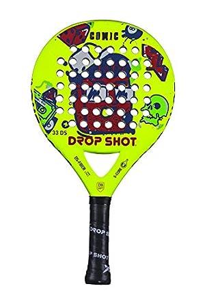 DROP SHOT Comic Pala Pádel, Unisex niños, Amarillo, 320-350 gr: Amazon.es: Deportes y aire libre