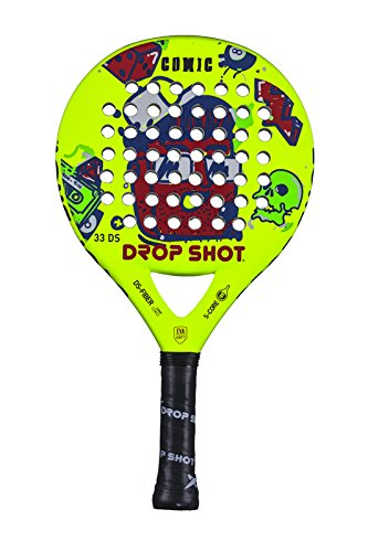 DROP SHOT Comic Pala Pádel, Unisex niños, Amarillo, 320-350 gr ...