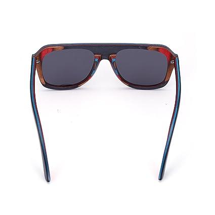 dfb Polarizado Vidrios De Madera Cubierto Monopatín Madera Gafas De Sol Hecho A Mano Bambú Gafas