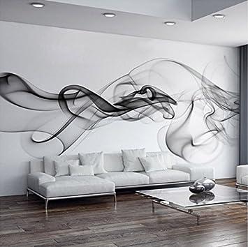 Schon Weaeo Benutzerdefinierte Fototapete Moderne 3D Wandbild Tapete Schwarz Weiß  Rauch Nebel Kunst Design Schlafzimmer Büro Wohnzimmer