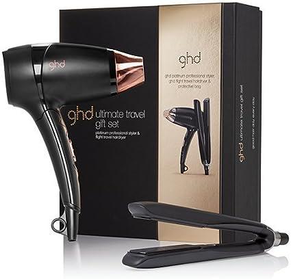 Set de viaje de ghd Platinum: plancha profesional y secador de pelo (111016).: Amazon.es: Belleza