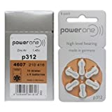 Power One P312 Hearing Aid Battery (6-Pack)