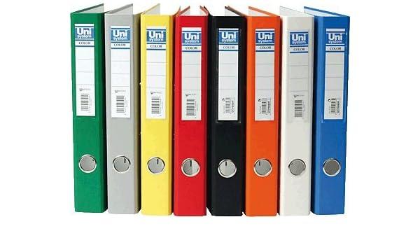 Unisystem 092376 - Archivador, lomo estrecho, color verde: Amazon.es: Oficina y papelería
