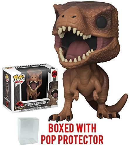 Funko Pop! Movies: Jurassic Park - Tyrannosaurus Rex Vinyl Figure (Bundled with Pop Box Protector Case) -
