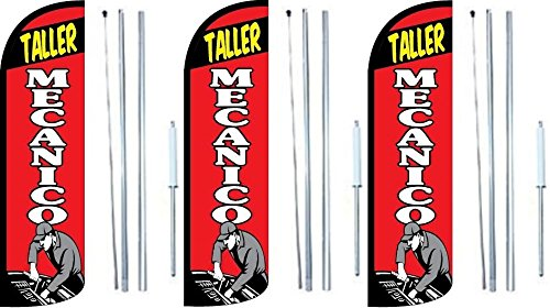 Amazon.com: Taller Mecanico King Windless Swooper bandera ...