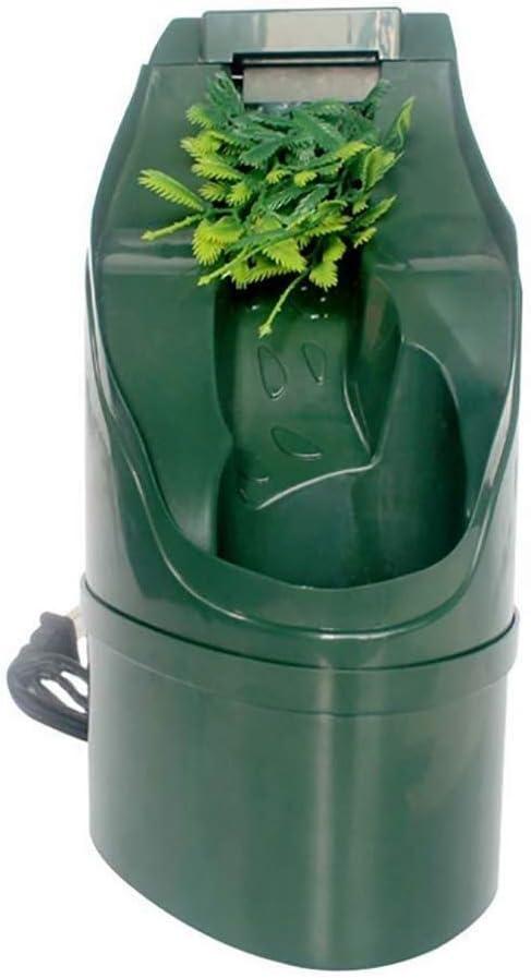 AYWJ ABS Reptil automático Filtro de Agua Potable Bebederos de alimentación Herramientas Fuente de Agua Potable Lagarto Camaleón Anfibio 180 * 125 mm