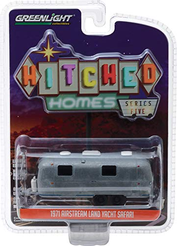 Yacht Safari Travel Trailer Unrestored Version Hitched Homes Series 5 1/64 Diecast Model by Greenlight 34050 D ()