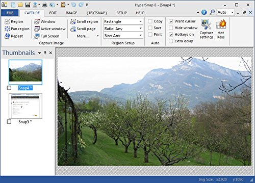 HyperSnap screen capture and image editor [Download] by Hyperionics