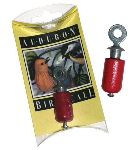 Channel Craft, Audubon Bird Call, Birchwood and Pewter Bird Whistle - Cardinal Wood Feeder