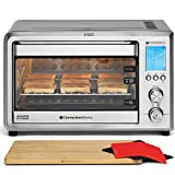 ConvectionWorks Hi-Q Intelligent Countertop Oven Set, 9-Slice XL Convection Oven Toaster w/Bamboo Cutting Board (10 Accessories, Rotisserie & Spit Included), 1500 Watt, Stainless Steel, Teflon-free