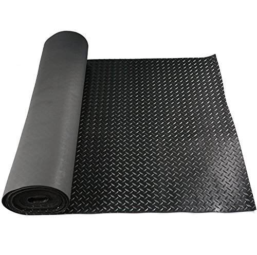 Hefty Mat Anti-Slip Rubber Sheet roll with Diamond Sheet for Operation Platform,Passage,Storage Ground,Power Station,Road and Bridge, Black, 3.2 feet ×16 feet ×1/10 inch by Hefty Mat (Image #5)