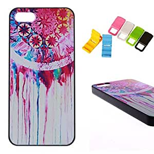 LCJ Color Painting Design Pattern Hard Cover Case and Holder for iPhone 5/5S