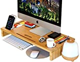 Royal Craft Wood Monitor Stand Riser with Storage Organizer Bamboo