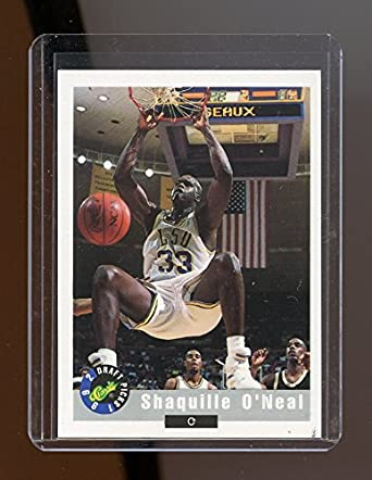 1992 Classic 1 Shaquille ONeal LSU Tigers 1st Rookie Card Mint Ships In New Holder At Amazons Sports Collectibles Store