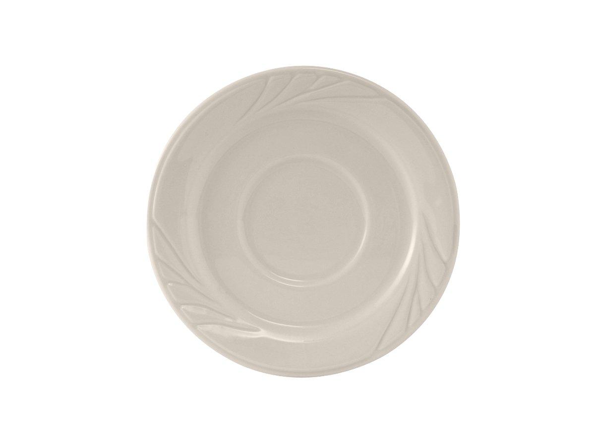 , 5-1//2 Tuxton YEE-054 Vitrified China Monterey Saucer Pack of 36 Eggshell
