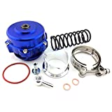 50MM BLOW OFF VALVE KIT BILLET ALUMINUM TURBO w CLAMP SPRING FLANGE HONDA ACURA
