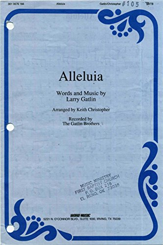 Alleluia SHEET MUSIC SATB