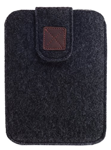 Kindle Paperwhite Sleeve - Kindle Voyage, Protective Felt Cover Case Pouch Bag for Amazon Kindle Paperwhite - Voyage (Dark Grey) - Kindle Case
