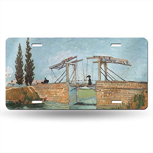 - Dunpaiaa Langlois Bridge at Arles Automobile (6X12) Front License Plate License/Vanity Plate