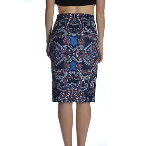 Carole Wren Paisley Scuba Pencil Skirt/20037/14173