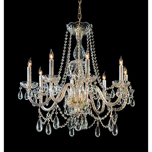 Crystorama 809-CH-CL-MWP Crystal Three Light Ceiling Mount from Chelsea collection in Chrome, Pol. ()