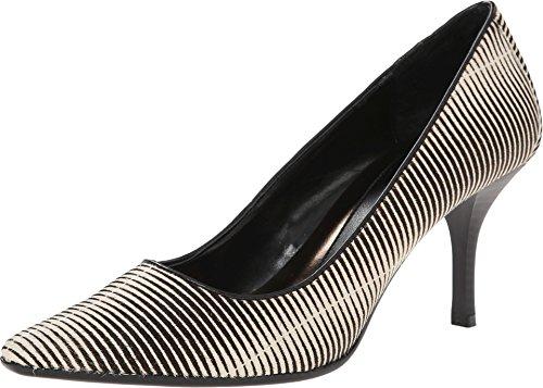 Calvin Klein Women's Dolly Dress Pump,White/Black,7 M US