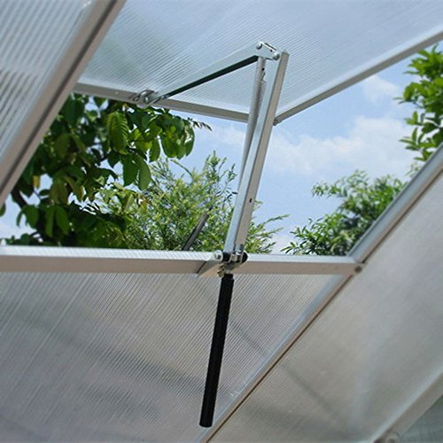 - Wiwir Solar Heat Sensitive Automatic Greenhouse Vent Opener Auto Vent Kit for all Palram Greenhouses (Single Spring Vent Opener)