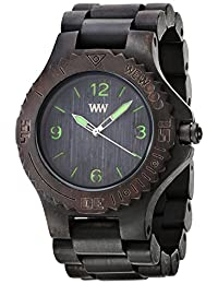 Wewood Men's Kale KALE-BLACK-GREEN Brown Wood Analog Quartz Watch with Brown Dial