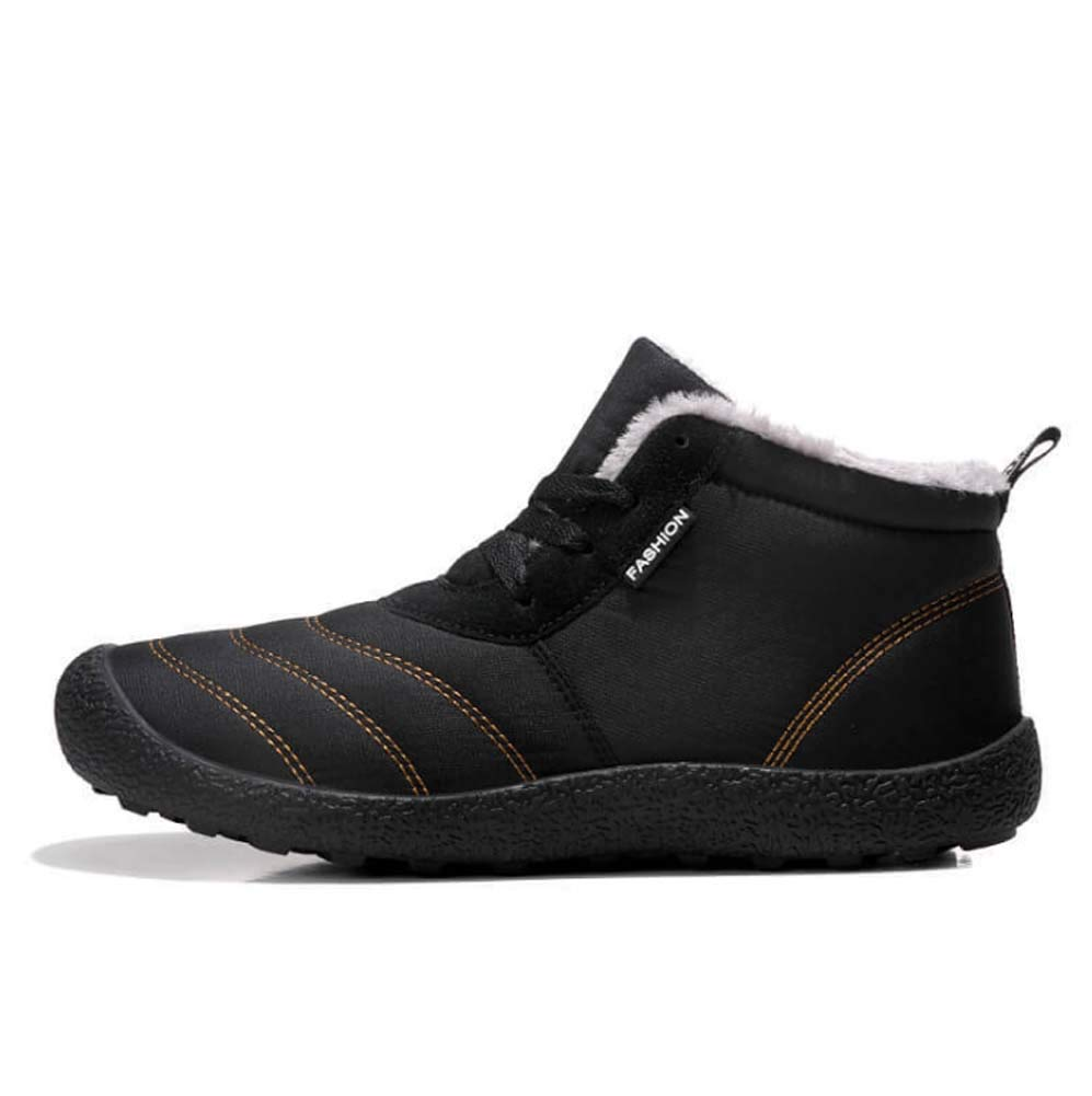 HYLFF Männer Schneeschuhe, warme Winter Stiefel voll Pelzgefüttert Knöchel Kurze Stiefel Anti-Rutsch-Schuhe Outdoor-Turnschuhe