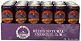 Reed's Natural Energy Elixir, 12 Ounce (Pack of 24)