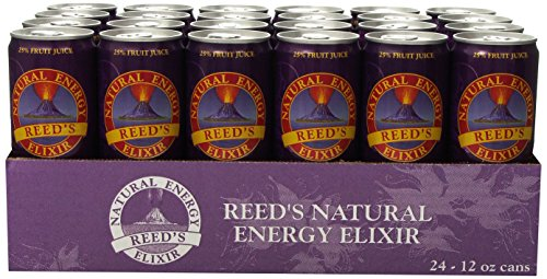 Reed's Natural Energy Elixir, 12 Ounce (Pack of 24) by Reeds