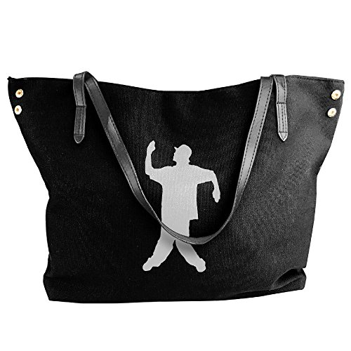 Canvas Bag Handbag Black Large Popping Tote Women's Hobo Shoulder dBHPdq
