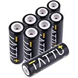 Tattu AA NiMH Rechargeable Battery 2600mAh Low Self Discharge High Capacity Batteries for Flashlight, Toys, Alarm-Clocks, LCD-TVs, Toothbrushes (8Pack)