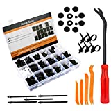 HandsEase Car Retainer Clips & Plastic Fasteners Kit, 435 Pcs Auto Push Pin Rivets Set Door Trim Panel Clips For GM Ford Toyota Honda Chrysler