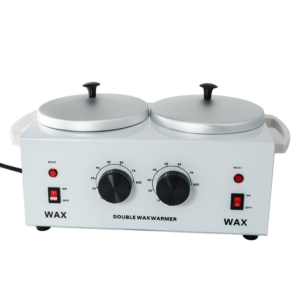 iMeshbean Professional Double Pot Wax Warmer Heater Electric Dual Pro Salon Hot Paraffin SPA Tool