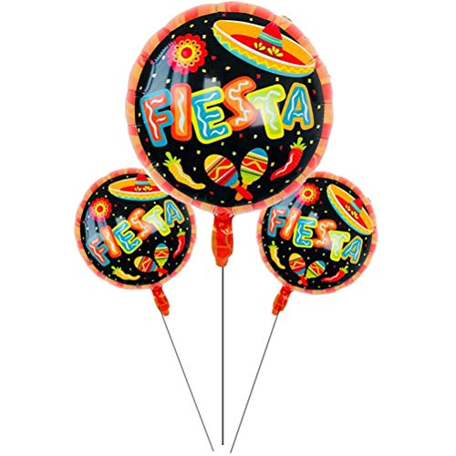Ballons Accessories - Fiesta Party Decorations Globos Mexico Foil Balloons Air Baby Decoration 18 Inch Helium - Accessories Balloons Ballons Ballons Accessories Decor Mexican Inch -
