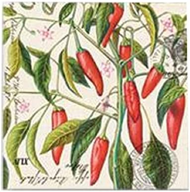 Michel Design Works 20-Pack 3-Ply Paper Lunch Napkins Chili Pepper Co NAPL216